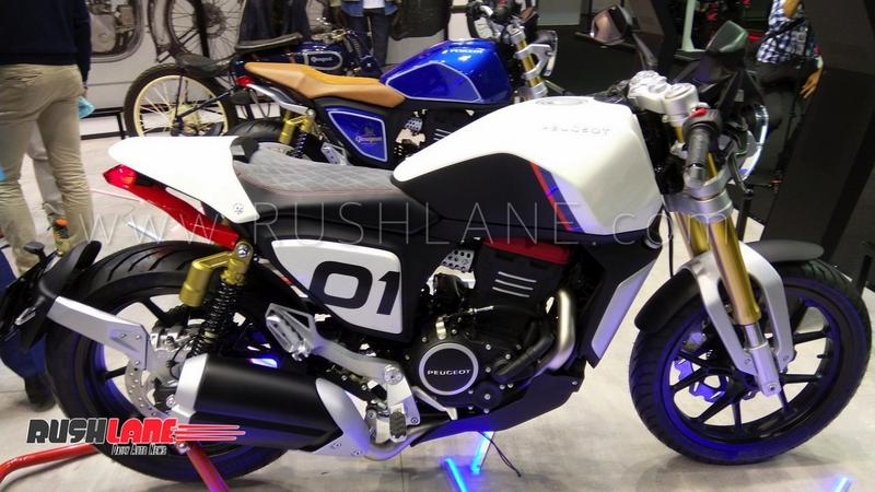 Bmw Motorcycle Parts >> Mahindra owned Peugeot Motorcycles showcases 300cc concepts - Shares parts with Mojo