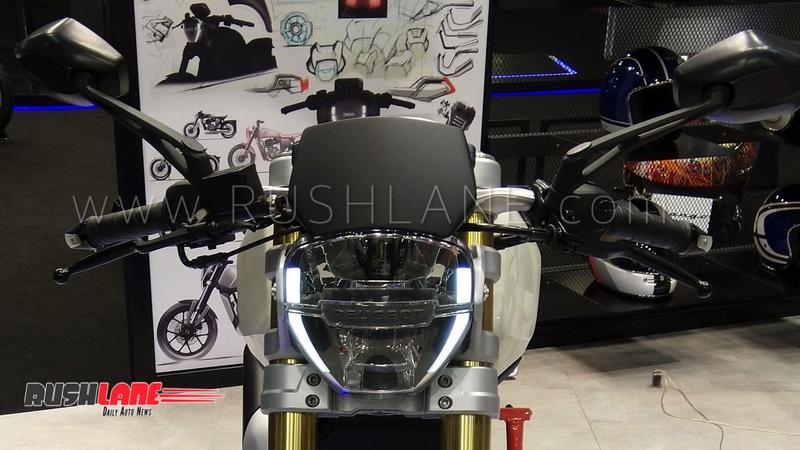 Mahindra Owned Peugeot Motorcycles Showcases 300cc