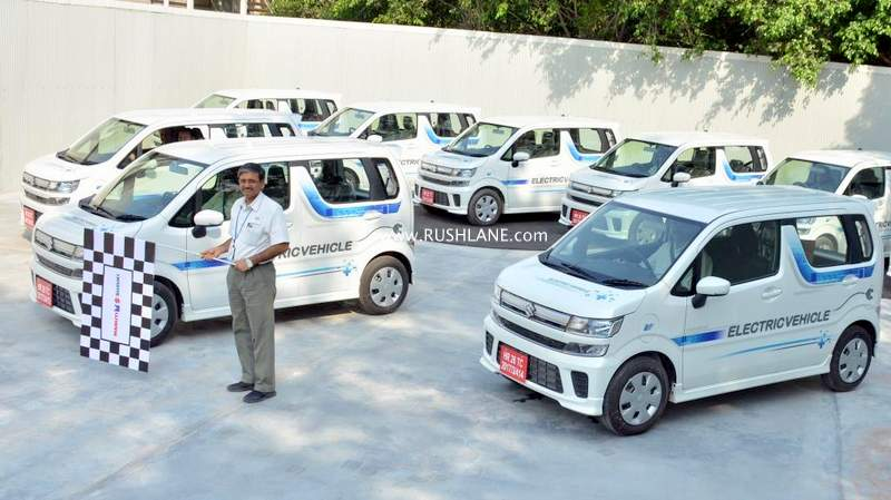Maruti WagonR electric test mules