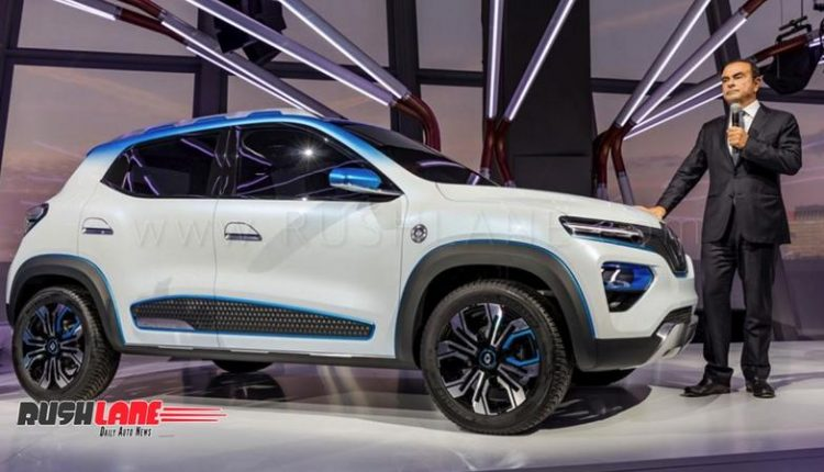 Renault Kwid Electric Car Showcased As Suv Inspired