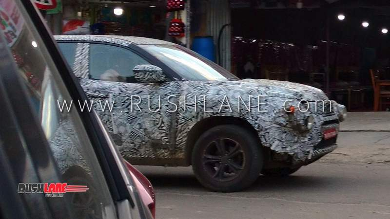Build A Jeep >> Tata Harrier SUV spotted wearing black alloys - Looks bigger than Jeep Compass