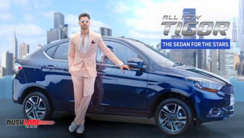2018 tata tigor tvc shows hrithik roshan driving the car