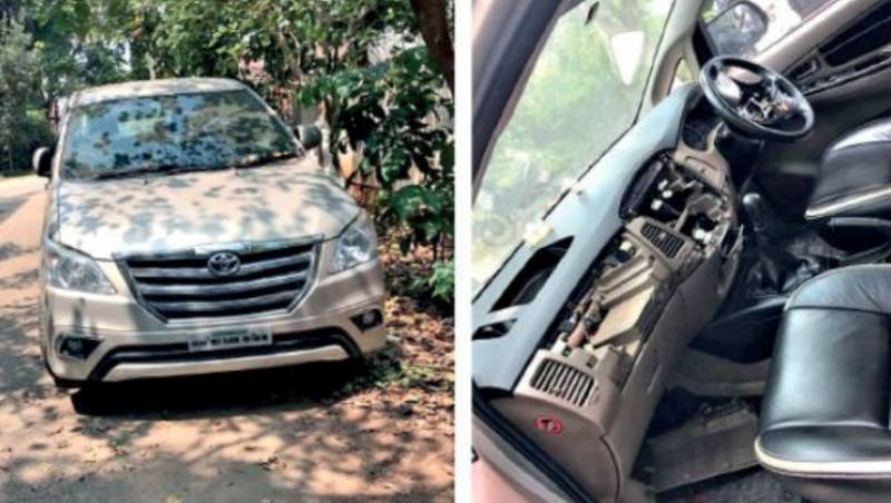 Thieves Stealing Toyota Innova Airbags In Bangalore Selling It At Half Price In Grey Market
