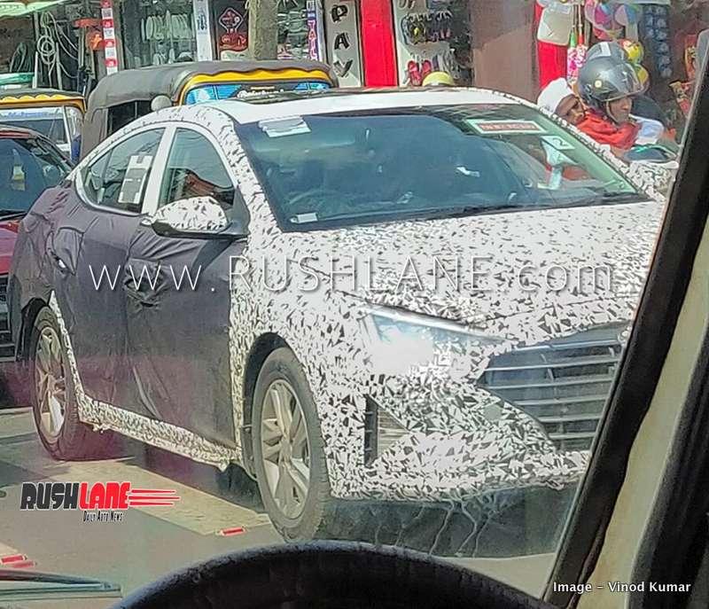 2019 Hyundai Elantra Spied In Tn Traffic Honda Civic Rival Launch Soon