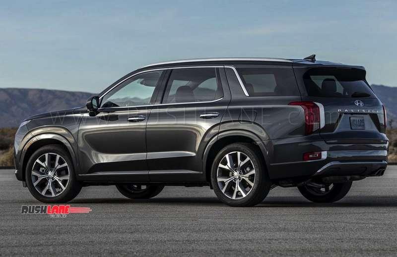 Hyundai Sante Fe 2018 >> Hyundai Palisade SUV debuts - Gets 3 rows, 8 seats, 20 inch tyres