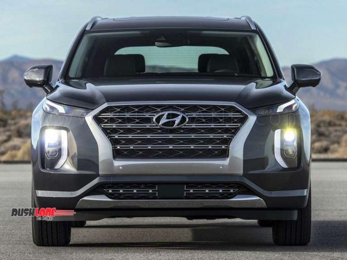 Hyundai Palisade Suv Debuts Gets 3 Rows 8 Seats 20 Inch Tyres