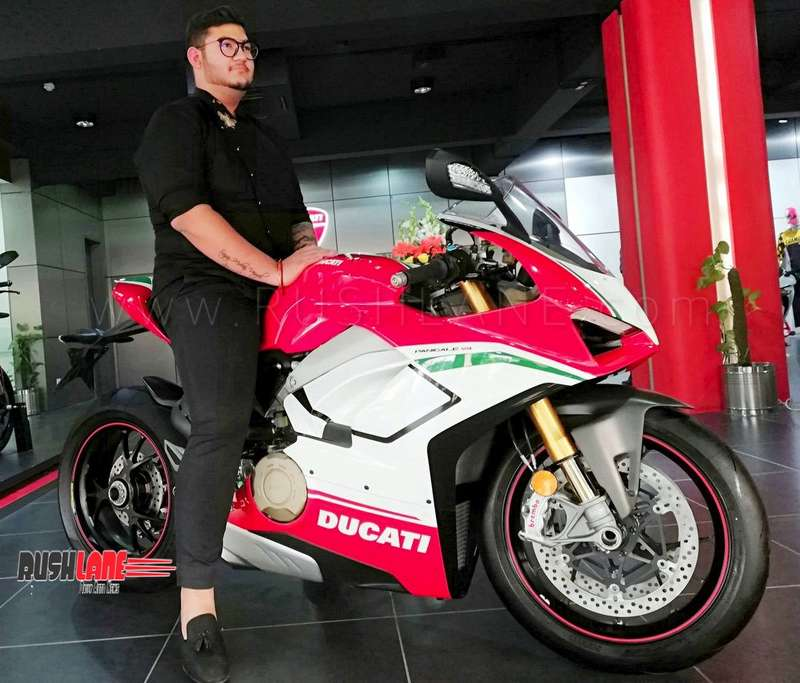 India S First Ducati Panigale V4 Speciale Delivered To Owner Price