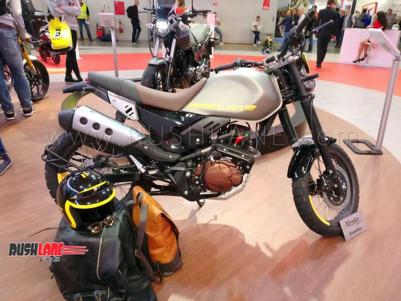 Hero Xpulse 200 Scrambler Concept Showcased Aims To Be