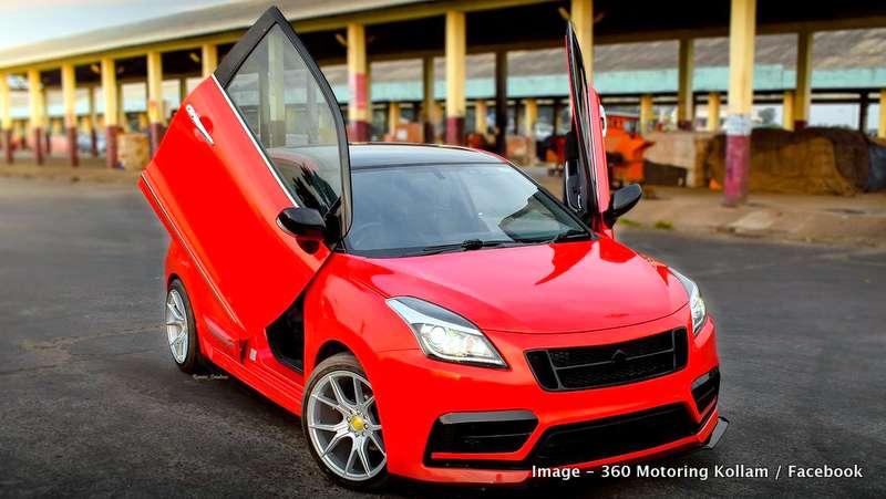 Maruti Baleno Fully Modified 17 Inch Wheels Lambo Style