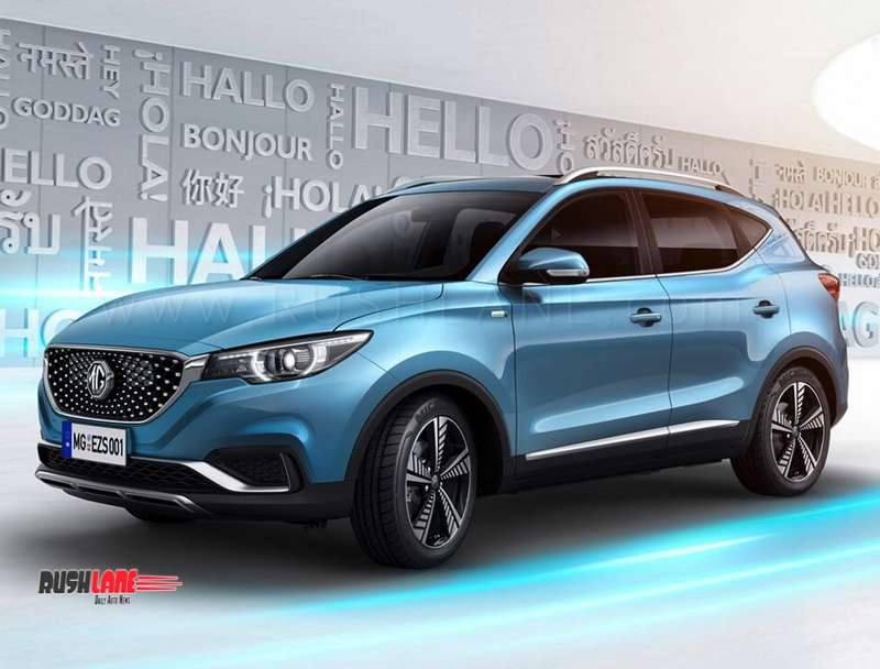 Lithium Ion Car Battery >> India-bound MG eZS electric SUV says Namaste in official photo