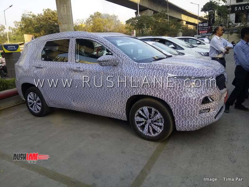 Mg Motor Suv For India Side Front Rear Spied Looks Like Tata
