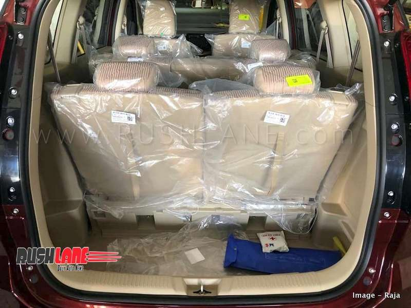 New Maruti Ertiga Boot Space Is Larger Than Before Spied At A