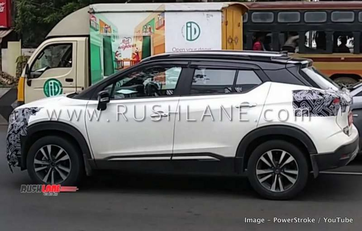 Nissan Kicks Suv White With Black Roof Spied Maruti S Cross Rival Launch Soon