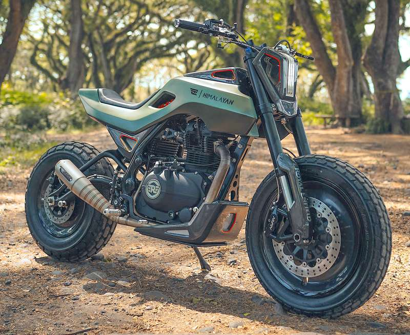 Royal Enfield Himalayan mod job - The most modern looking RE ever