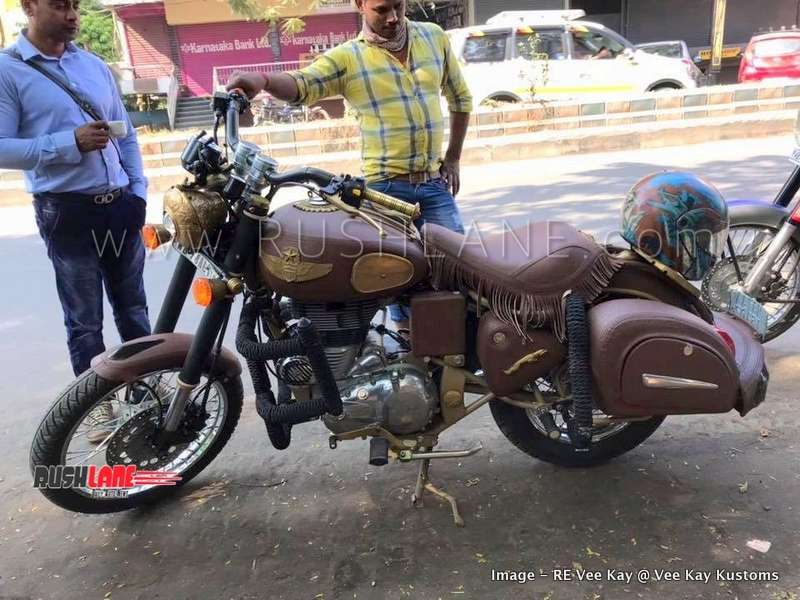Royal Enfield Classic Modified To Look Like Indian Chief Worth Rs 20