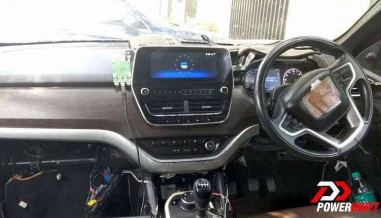 Tata Harrier Top View Revealed In New Spy Shots Sunroof