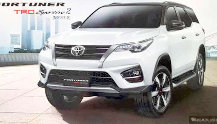 Shots For Thailand >> 2019 Toyota Fortuner TRD Sportivo SUV debuts - India ...