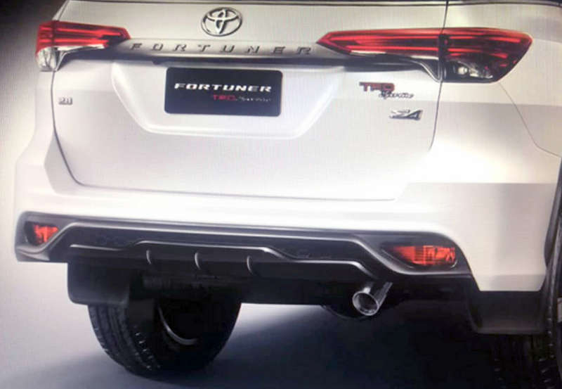 2019 Toyota Fortuner Trd Sportivo Suv Debuts India Launch Next Year