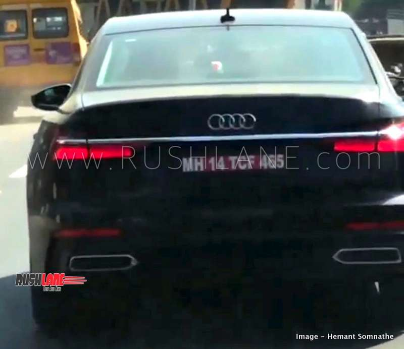 2019 Audi A6: 2019 Audi A6 Spied On Video In Pune Ahead Of Launch Next Year