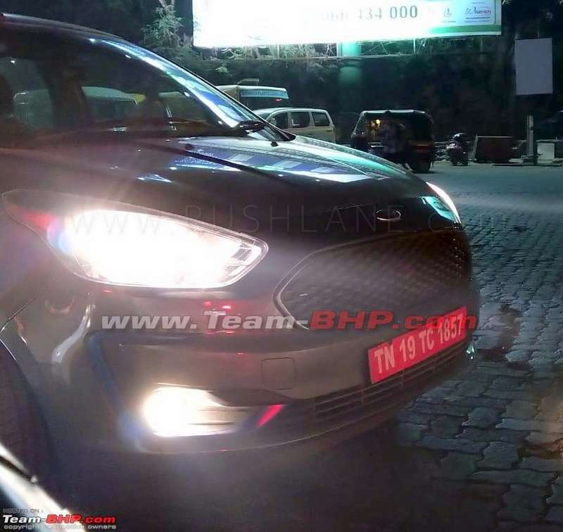 2019 Ford Figo Spied With Black Alloys And Blu Badge