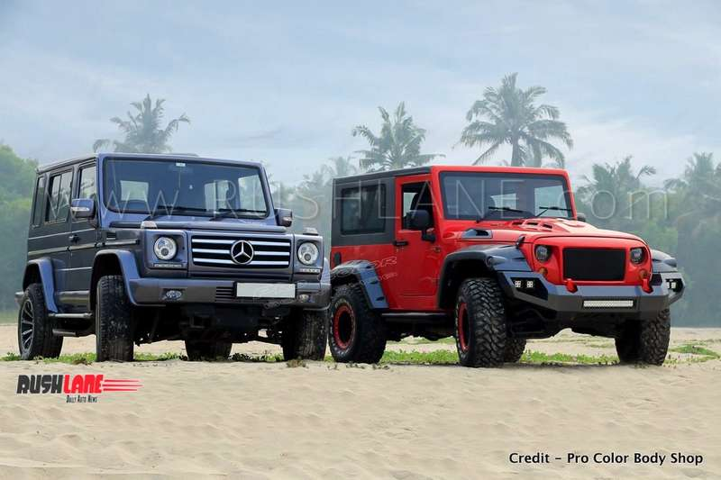 Mahindra Thar Modified With Parts Inspired From Jeep Wrangler