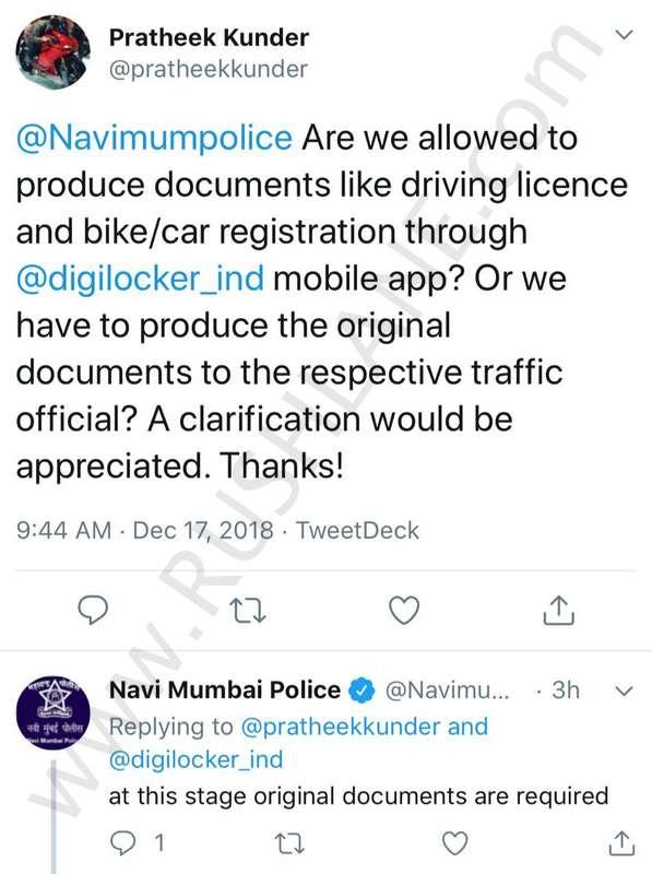 Show original driving license when demanded - Mumbai Police