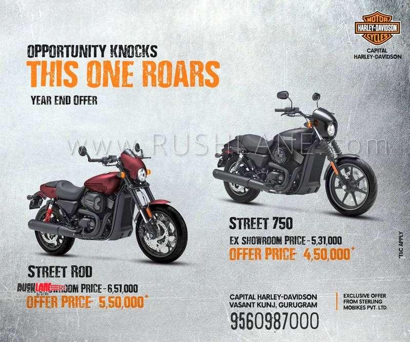 Cheapest Harley Davidson >> Harley Davidson 750 Discounts At Rs 1 Lakh Royal Enfield