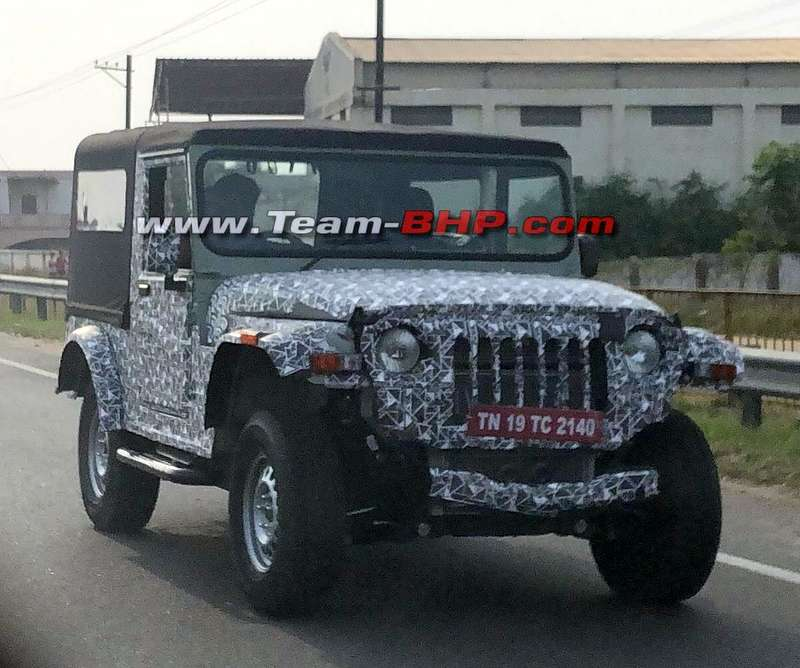 New Mahindra Thar 4x4 Spied Again With Jeep Styled Front And Rear