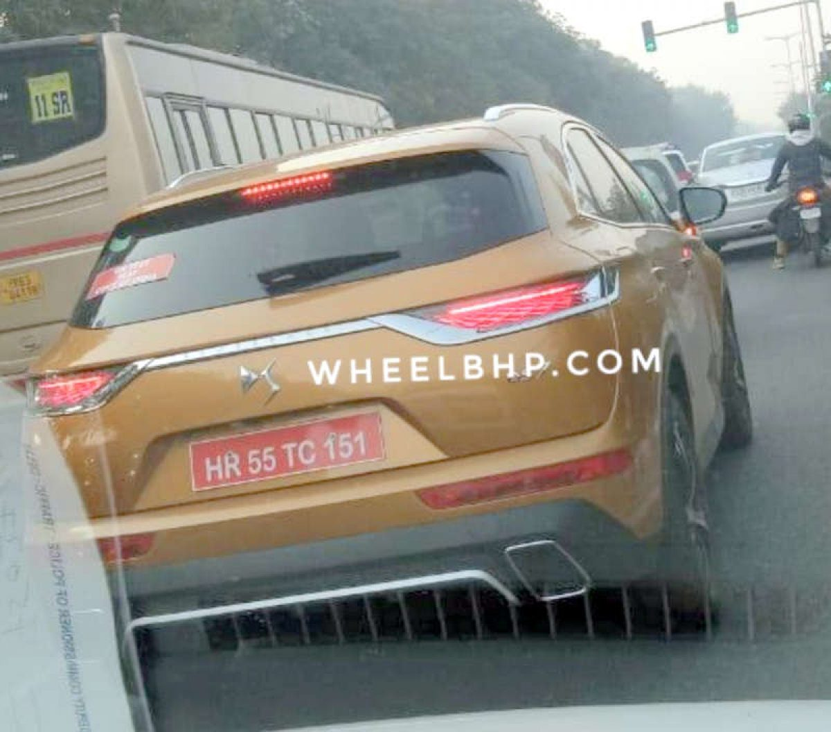 Peugeot Testing Ds7 Suv In India Spied With Tata Harrier Like Orange Colour