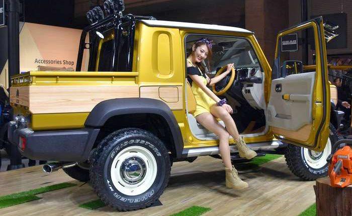 Fabelhaft Suzuki Jimny SUV concept in pickup style variant makes global debut @VM_56