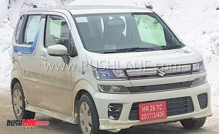 Maruti WagonR electric on test in India