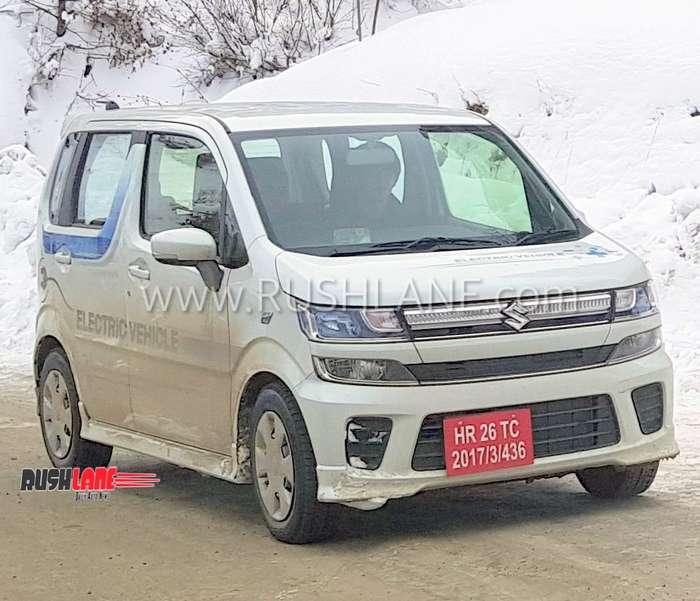 Maruti WagonR electric on test in India