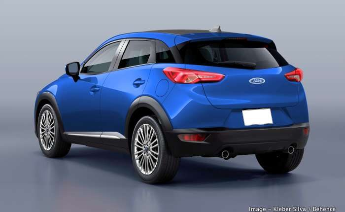 2020 Ford Ecosport New Gen Front And Rear Render Based On
