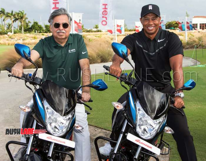 Hero MotoCorp with Tiger Woods