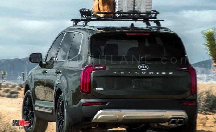 Suv With Third Row >> Kia Telluride SUV debuts - Based on Hyundai Palisade 8 seater