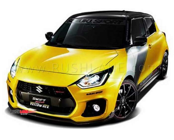 suzuki swift sport yellow rev is the fastest and lightest. Black Bedroom Furniture Sets. Home Design Ideas