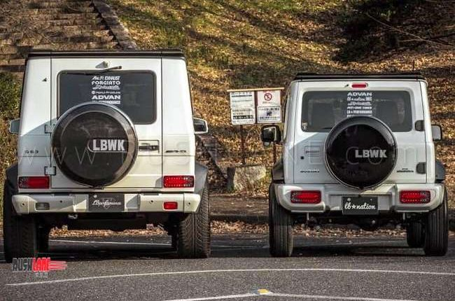 Suzuki Jimny And Mercedes G Class Modified To Look Alike Diff Size