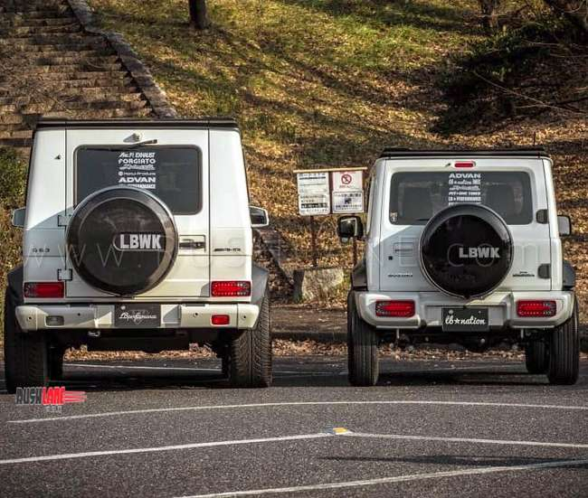 Mercedes Benz G63 >> Suzuki Jimny and Mercedes G Class modified to look alike ...