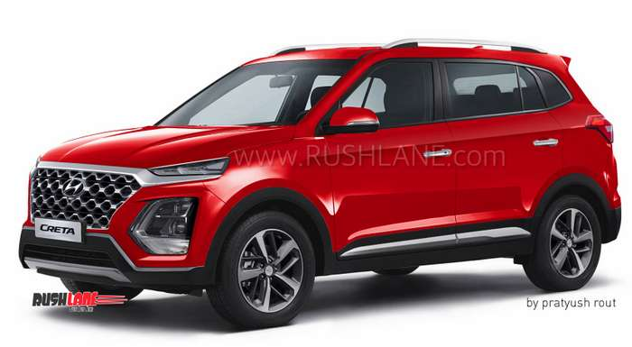 2020 Hyundai Creta 7 Seater Suv Render Ahead Of Launch