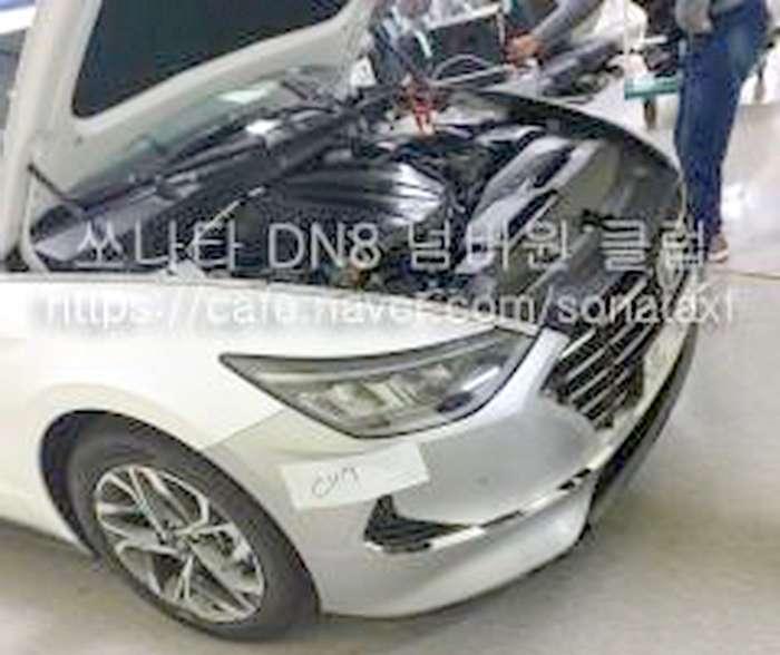 2020 Hyundai Sonata Undisguised Spy Shots Leak