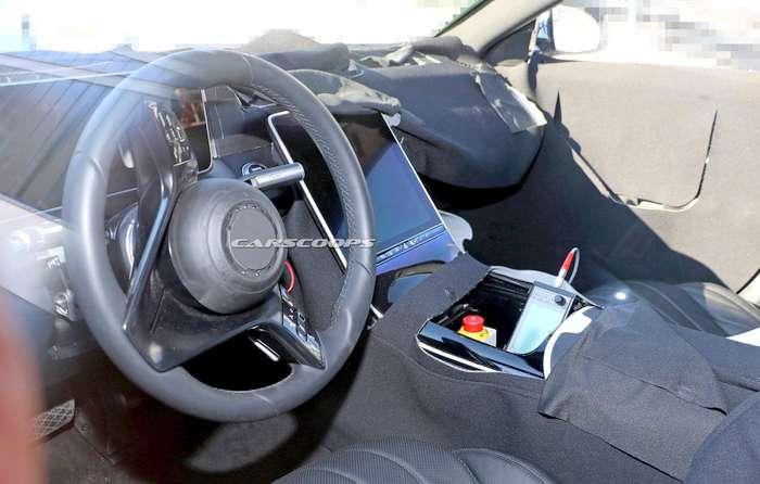 New Gen Mercedes Benz S Class Dashboard Undisguised Photo Leaks
