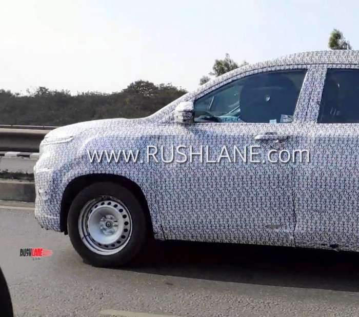 MG Hector 6 seater spied