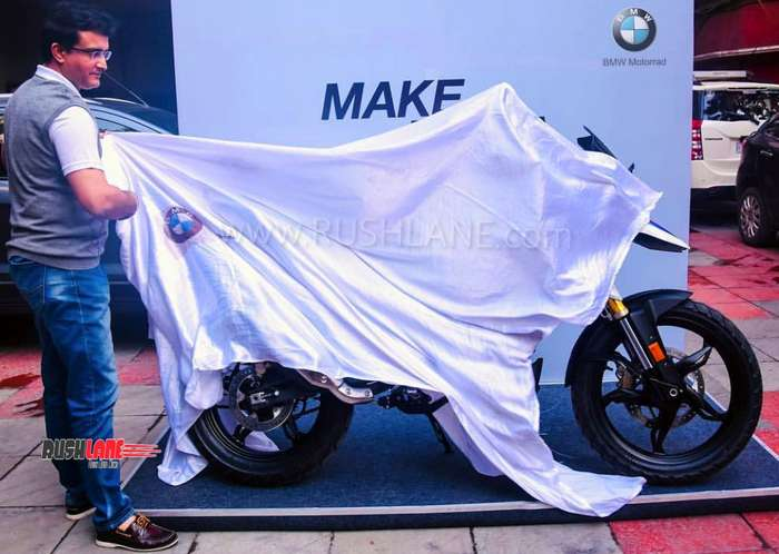 Sourav Ganguly takes delivery of BMW G310GS off-road motorcycle
