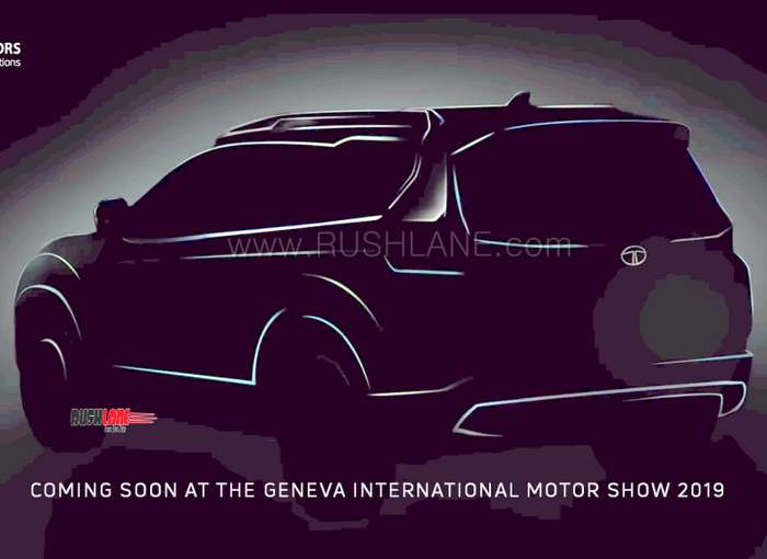 Tata H7x Suv 1st Official Teaser Video Rear Sketch Of 7 Seater Harrier