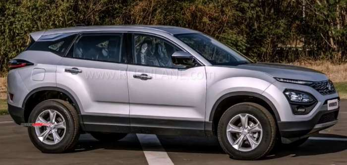 tata harrier all 5 colour options placed next to each