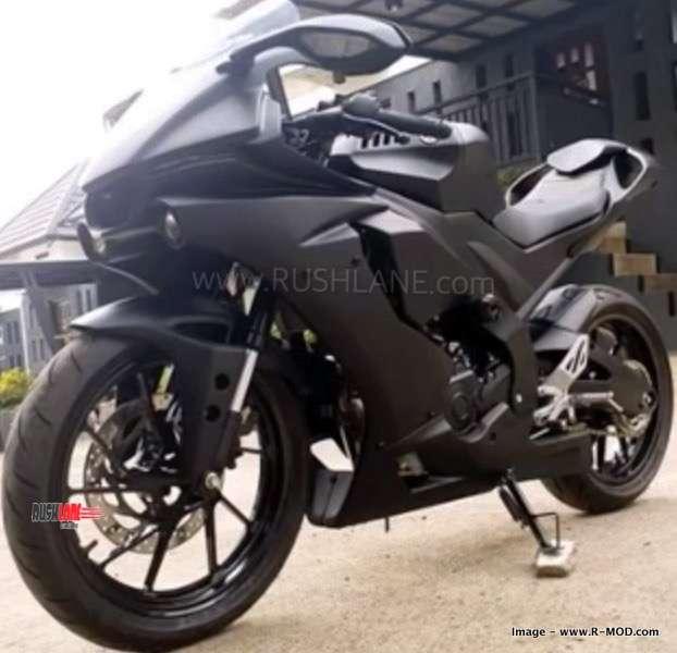 New Yamaha R15 V3 aftermarket bolt-on kit for Dark Knight mode