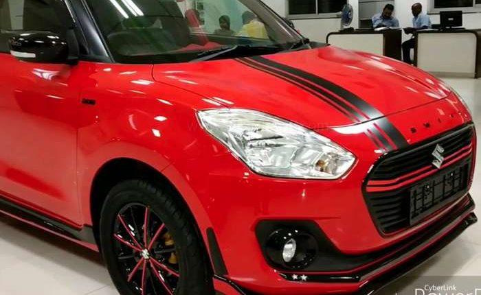 Maruti Swift modified by authorized dealer - Calls it Swift Sport