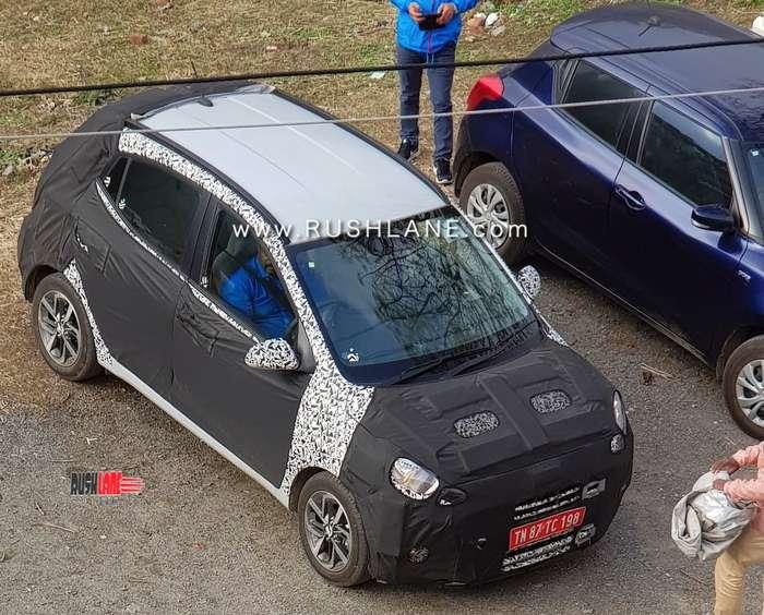New Hyundai Grand i10 spied on test with Maruti Swift ahead