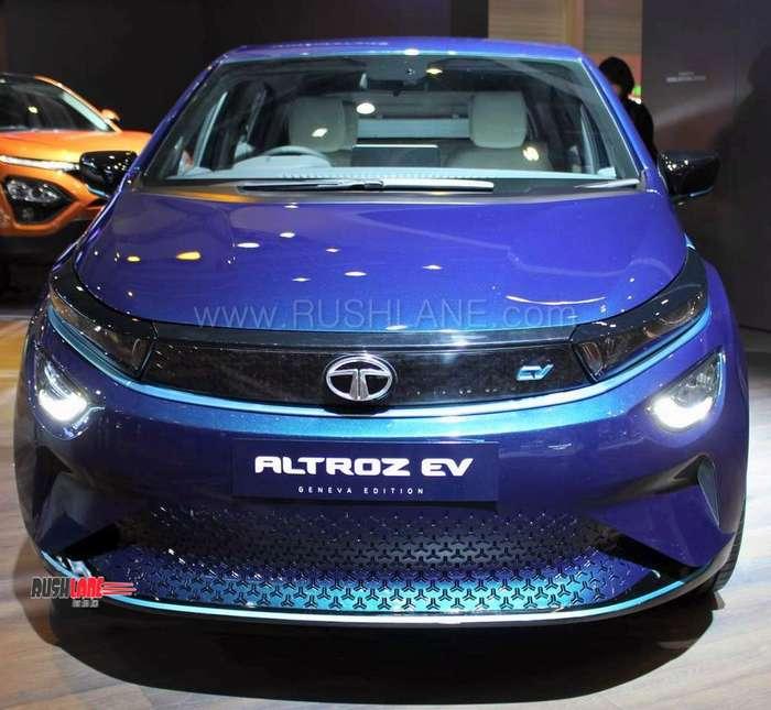 Geneva Auto Sales >> Tata Altroz EV unveiled by Ratan Tata - 2019 Geneva Motor Show