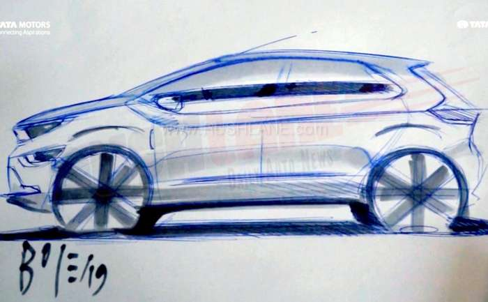 Tata Altroz sketch created on video by Pratap Bose – Head of Design at Tata 3eb49c28a4b